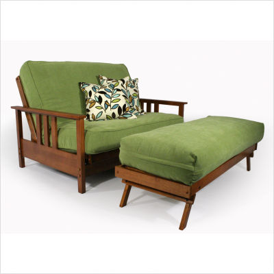 Love Seat And Detached Ottoman Futon Frame