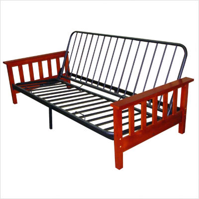 metal and wood futon frame