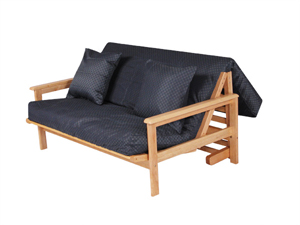 A Frame Tri Fold Futon With Arms